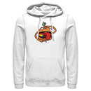 Fortnite Men's Durr Burger  Pull Over Hoodie  White  2XL