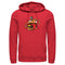 Fortnite Men's Durr Burger  Pull Over Hoodie  Red  2XL