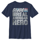 GI Joe Boy's Real American Hero  T-Shirt  Navy Blue  YS