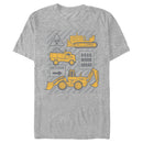 Tonka Men's Construction Work  T-Shirt  Athletic Heather  XL