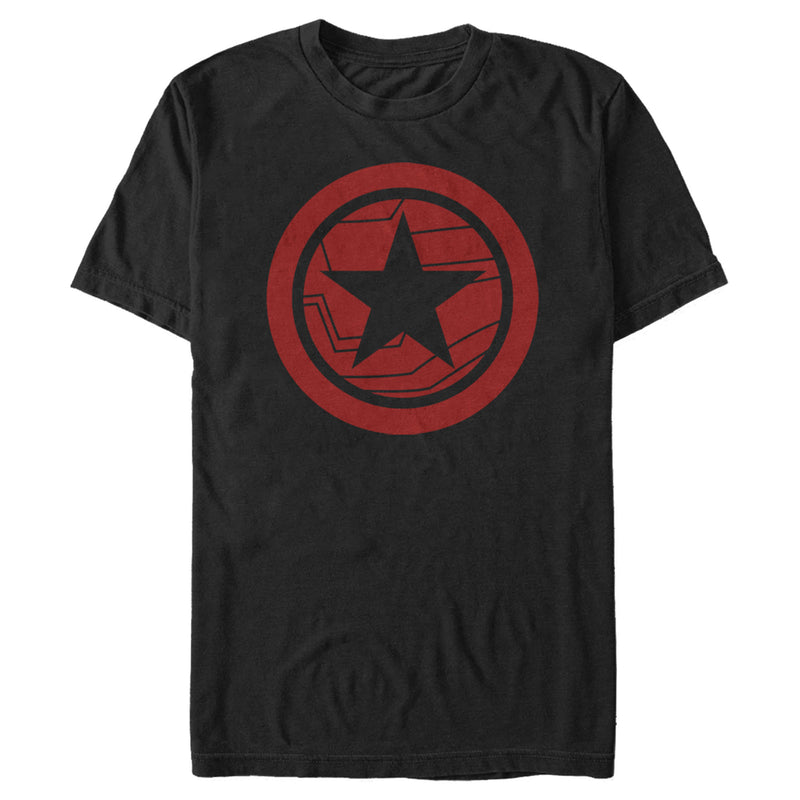 Marvel Men's The Falcon and the Winter Soldier Red Shield  T-Shirt  Black  XL
