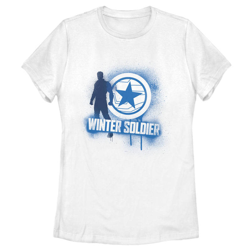 Marvel Women's The Falcon and the Winter Soldier Bucky Spray Paint  T-Shirt