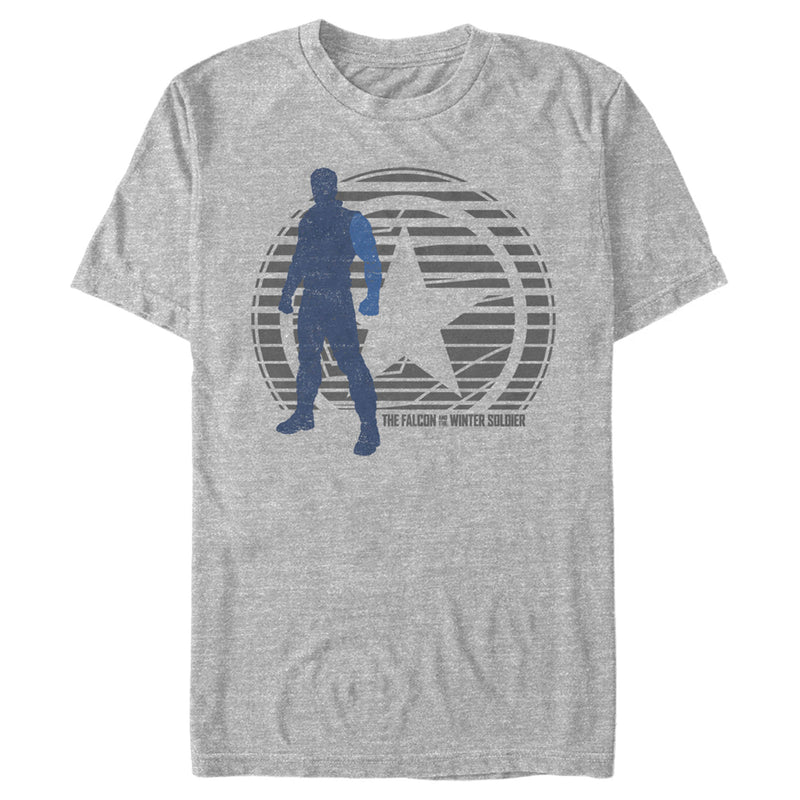 Marvel Men's The Falcon and the Winter Soldier Abstract Bucky  T-Shirt  Athletic Heather  3XL