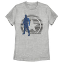 Marvel Women's The Falcon and the Winter Soldier Abstract Bucky  T-Shirt  Athletic Heather  2XL