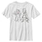 Marvel Boy's WandaVision Outline Sketch  T-Shirt  White  YM