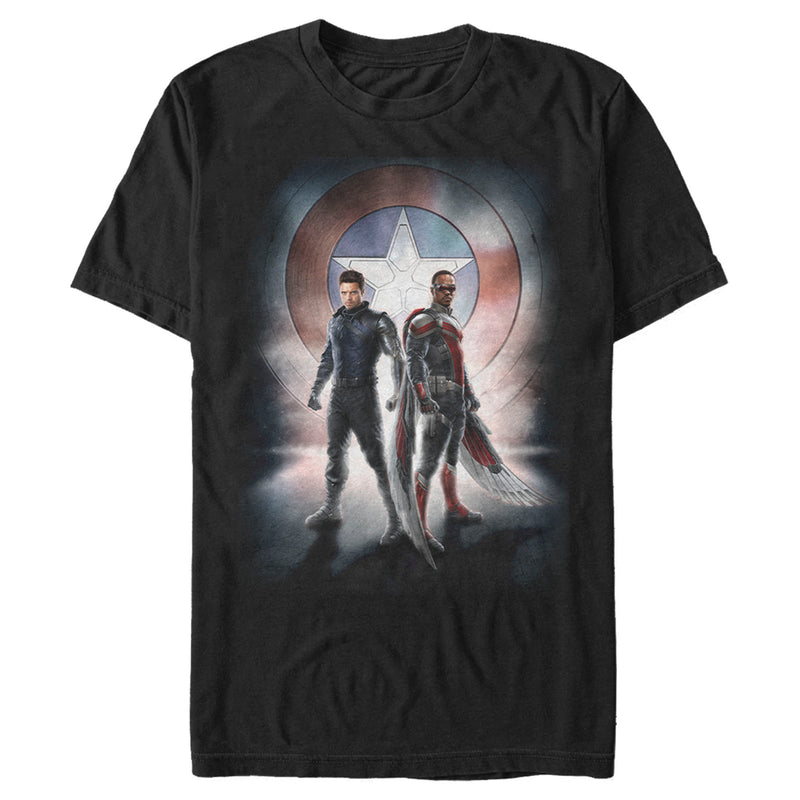 Marvel Men's The Falcon and the Winter Soldier Team Poster  T-Shirt  Black  2XL