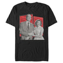 Marvel Men's WandaVision Sitcom Couple  T-Shirt  Black  S
