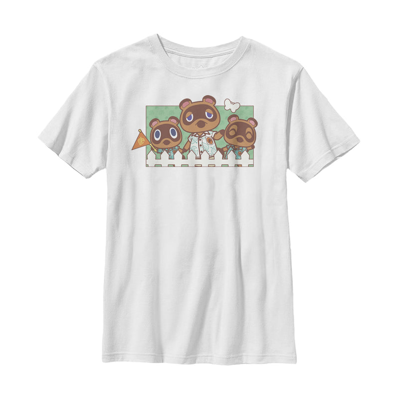 Nintendo Animal Crossing Nook Family Portrait Boys Graphic T Shirt
