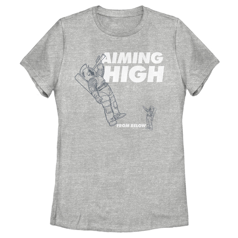 Space Force Women's Aiming High Astronaut  T-Shirt  Athletic Heather  3XL