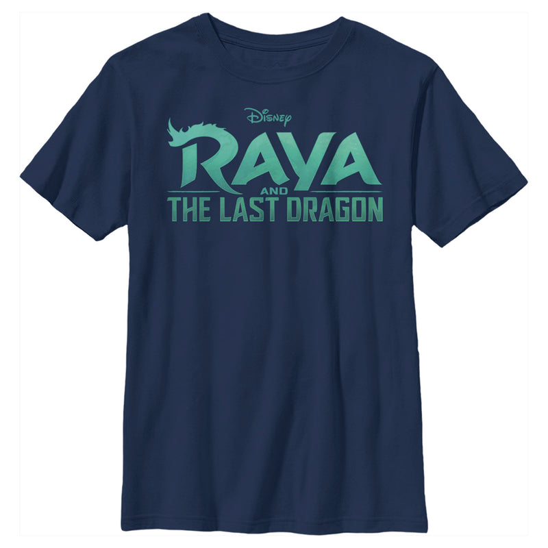 Raya and the Last Dragon Boy's Classic Logo  T-Shirt  Navy Blue  YS