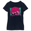 Raya and the Last Dragon Girl's Tuk Tuk Portrait  T-Shirt  Navy Blue  S