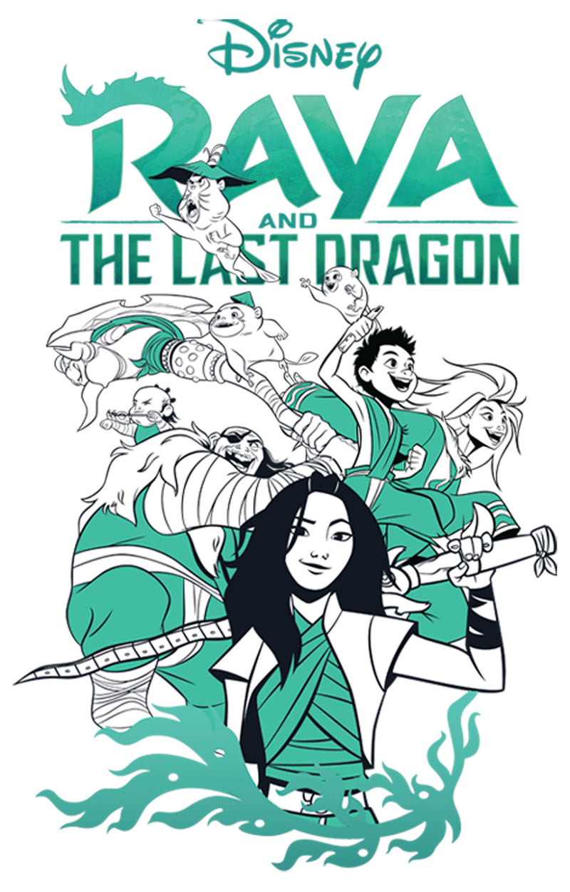 Raya and the Last Dragon Boy's Characters in Action  T-Shirt