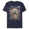 Star Wars The Mandalorian Men's The Child Starry Night  T-Shirt  Navy Blue  2XL