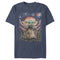 Star Wars The Mandalorian Men's The Child Starry Night  T-Shirt  Navy Blue Heather  2XL