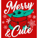 Star Wars The Mandalorian Boy's Christmas The Child Merry and Cute  T Shirt
