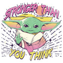 Star Wars The Mandalorian Junior's The Child Stronger Than You Think  T-Shirt