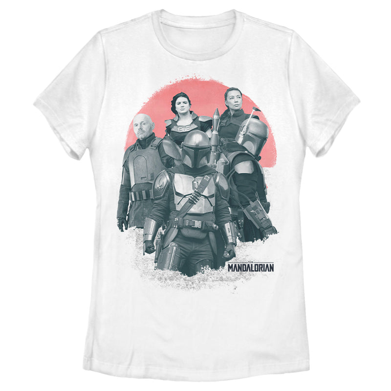 Star Wars The Mandalorian Women's Transport Team  T-Shirt  White  M