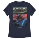 Star Wars The Mandalorian Women's Playtime on Morak  T-Shirt  Navy Blue  M