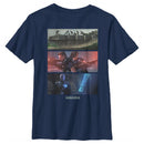 Star Wars The Mandalorian Boy's Playtime on Morak  T-Shirt  Navy Blue  YM