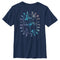Star Wars The Mandalorian Boy's Female Mercenaries Gradient  T-Shirt  Navy Blue  YL