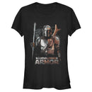 Star Wars The Mandalorian Junior's Din Djarin Beskar Armor  T-Shirt