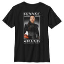 Star Wars The Mandalorian Boy's Fennec Shand Portrait  T-Shirt  Athletic Heather  YM