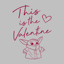 Star Wars The Mandalorian Boy's Valentine's Day The Child Valentine Way  T-Shirt