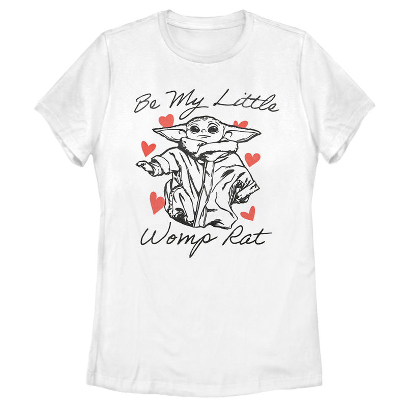 Star Wars The Mandalorian Women's Valentine's Day The Child Be My Womp Rat  T-Shirt