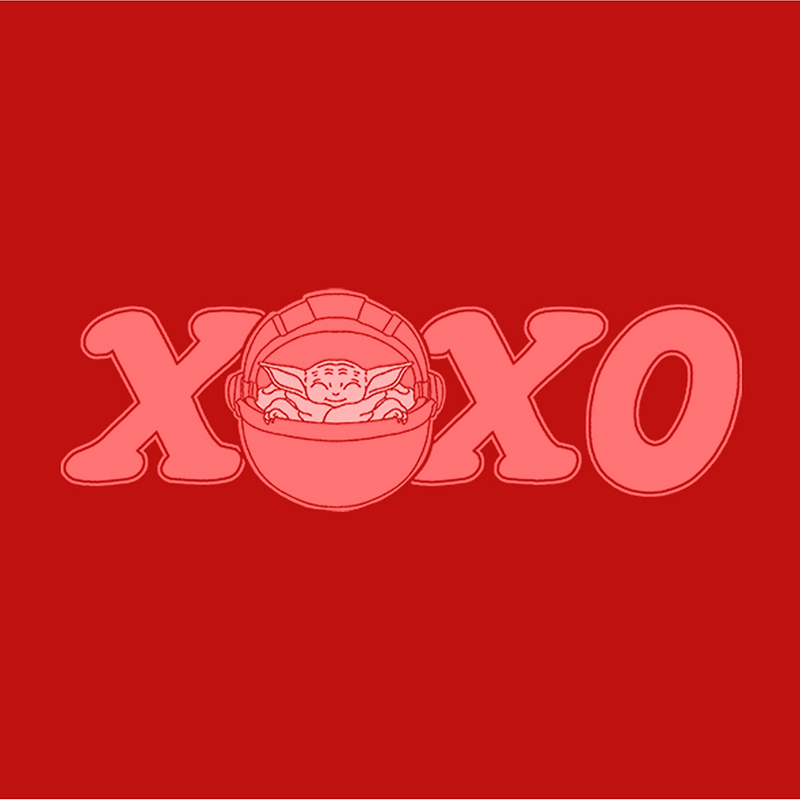Star Wars The Mandalorian Men's Valentine's Day The Child XOXO Bassinet  T-Shirt