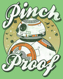 Star Wars The Last Jedi Girl's BB-8 St. Patrick's Day Pinch Proof  T-Shirt