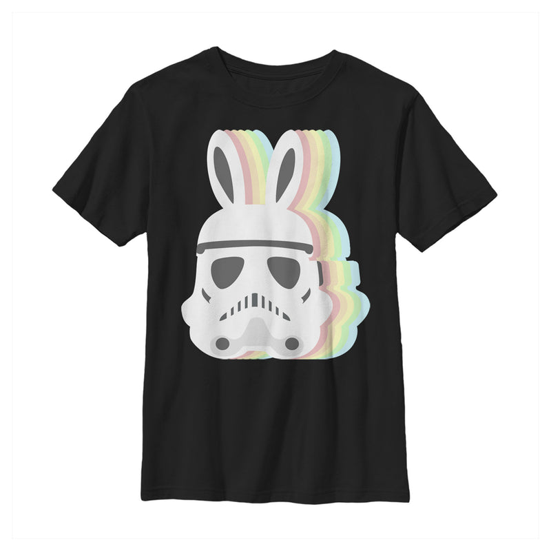 Star Wars Boy's Easter Stormtrooper Pastel Easter Ears  T-Shirt  Black  M