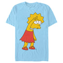 The Simpsons Men's Lisa Loser  T-Shirt  Light Blue  M