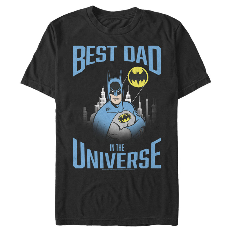 Batman Men's Best Dad in the Universe  T-Shirt  Black  3XL