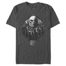 Zack Snyder Justice League Men's Darkseid Group Shot  T-Shirt  Charcoal  M