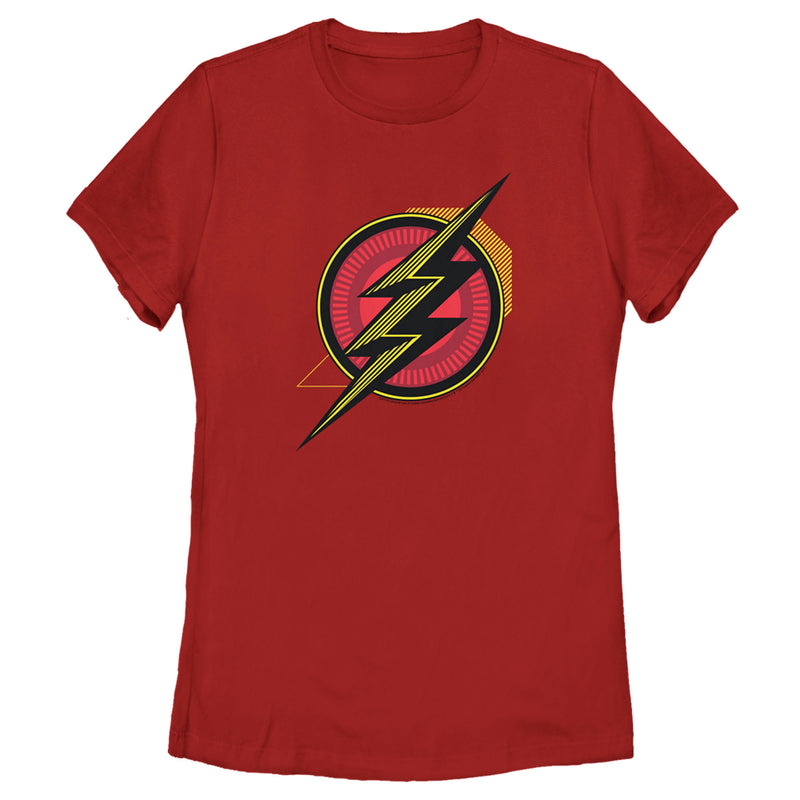 Zack Snyder Justice League Women's The Flash Comic Logo  T-Shirt