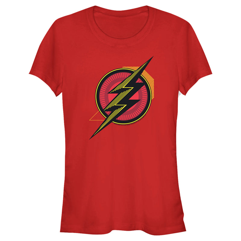Zack Snyder Justice League Junior's The Flash Comic Logo  T-Shirt  Red  S