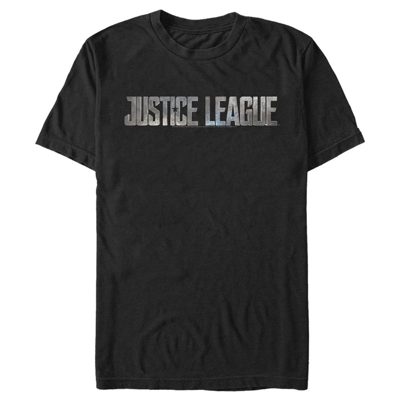 Zack Snyder Justice League Men's Small Stone Logo  T-Shirt