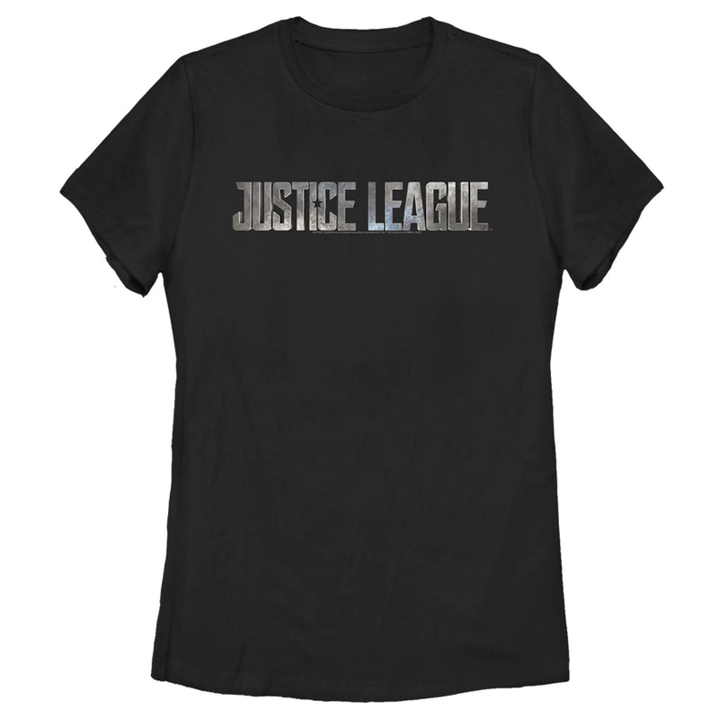 Zack Snyder Justice League Women's Small Stone Logo  T-Shirt