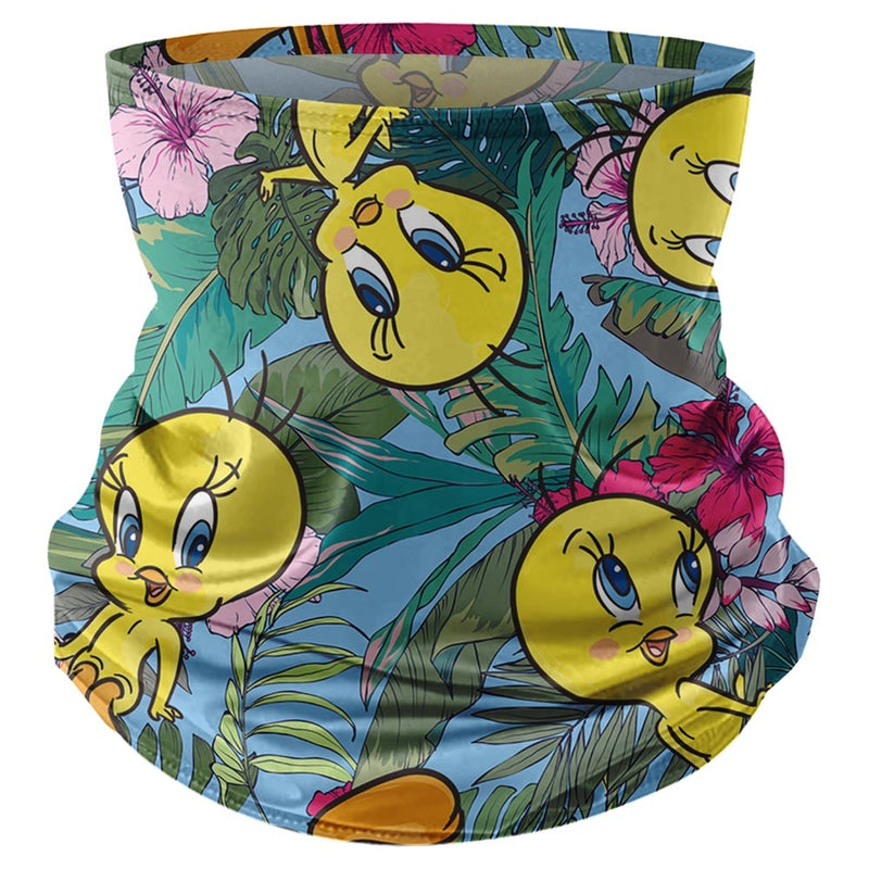 Looney Tunes  Tweety Tropical Vacation QTY of 1  Neck Gaiter  Multi-Color  OSFA