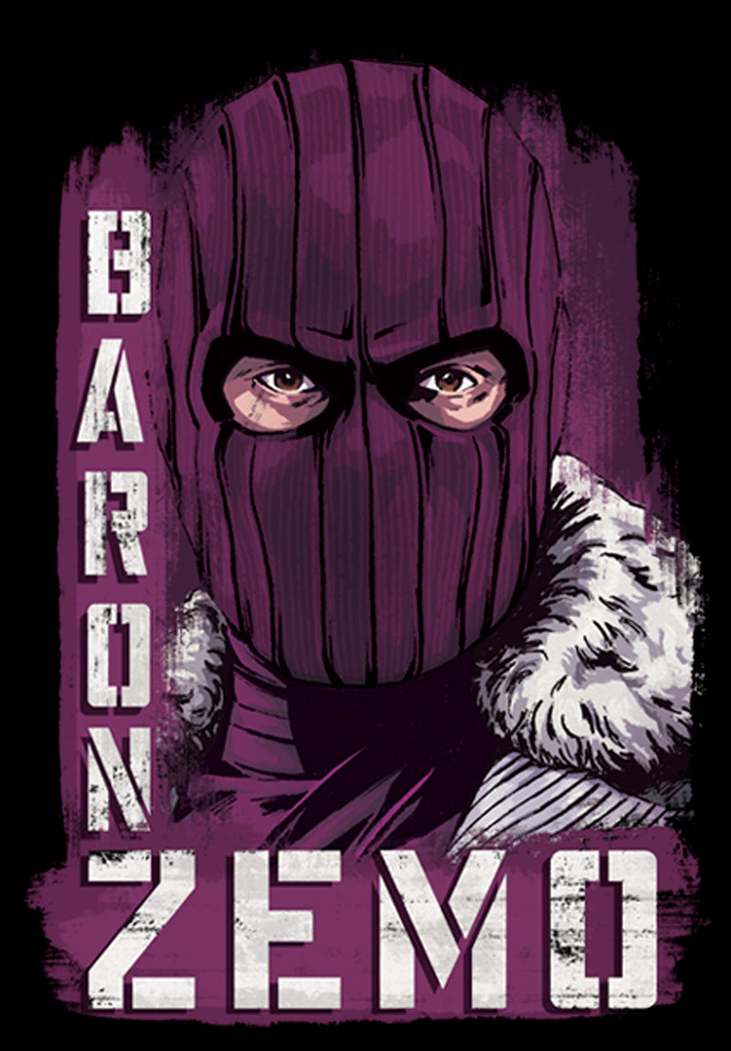 Marvel Junior's The Falcon and the Winter Soldier Baron Zemo Close-Up  T-Shirt