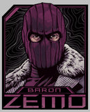 Marvel Women's The Falcon and the Winter Soldier Baron Zemo Badge  T-Shirt