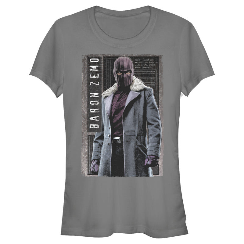 Marvel Junior's The Falcon and the Winter Soldier Baron Zemo is Ready  T-Shirt  Charcoal  2XL
