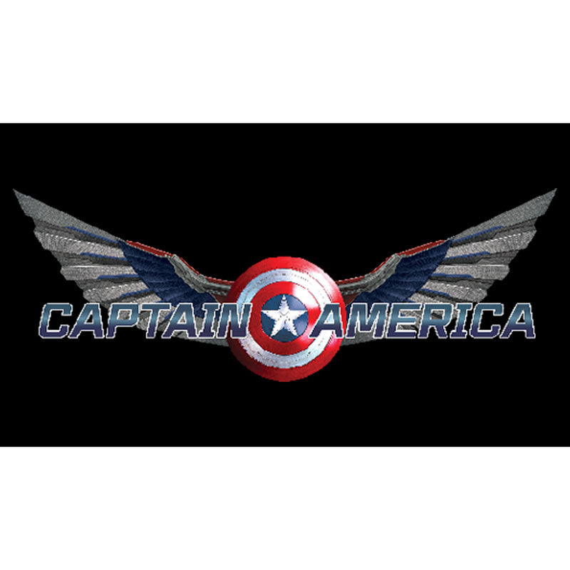 Marvel Junior's The Falcon and the Winter Soldier Captain America Shield with Wings  T-Shirt