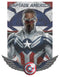 Marvel Men's The Falcon and the Winter Soldier Captain America Shield Wings  T-Shirt