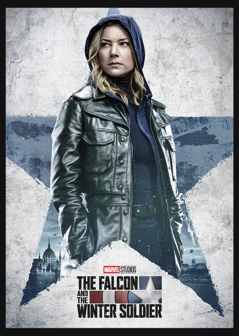 Marvel Girl's The Falcon and the Winter Soldier Sharon Carter Poster  T-Shirt