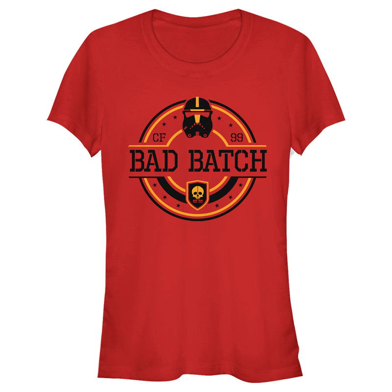 Star Wars: The Bad Batch Junior's Circle Logo  T-Shirt  Red  M
