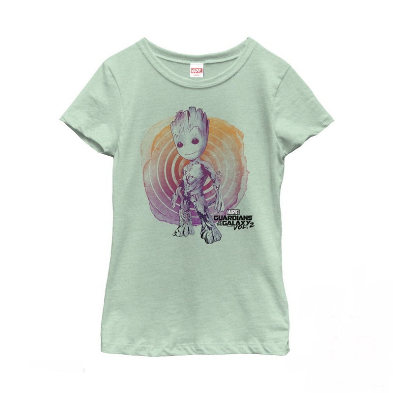 Marvel Girl's Guardians of the Galaxy Vol. 2 Groot Swirl  T-Shirt  Mint  S