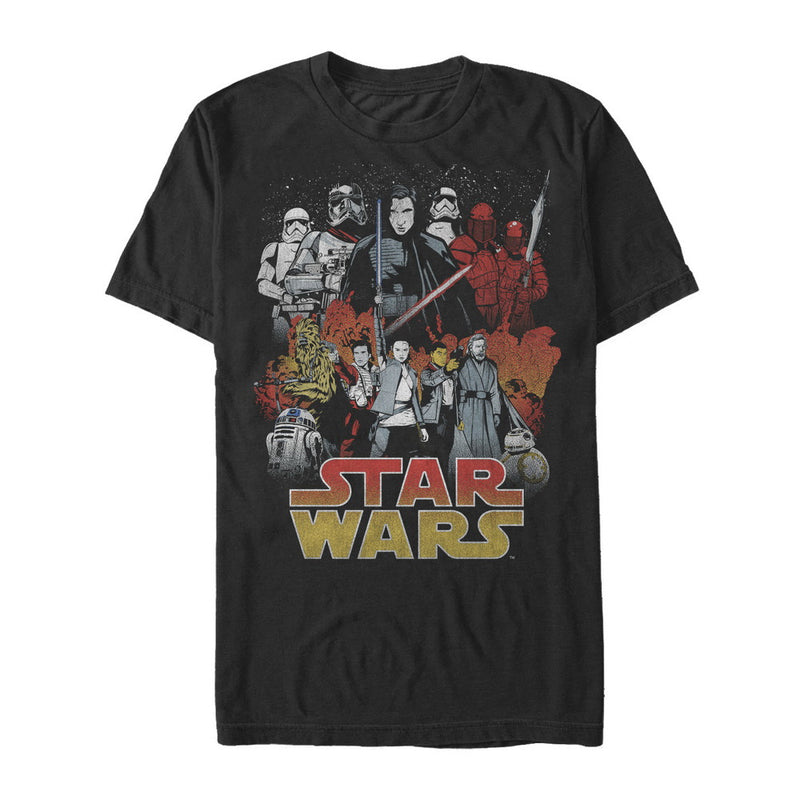 Star Wars The Last Jedi Men's Good and Evil  T-Shirt  Black