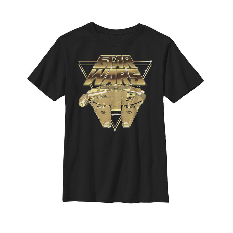 Star Wars The Last Jedi Millennium Falcon Pixel Boys Graphic T Shirt