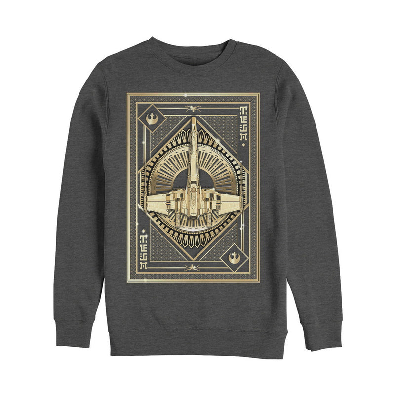 Star Wars The Last Jedi X-Wing Card Mens Graphic Sweatshirt